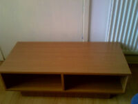 Beech Effect Solid Cube TV Stand