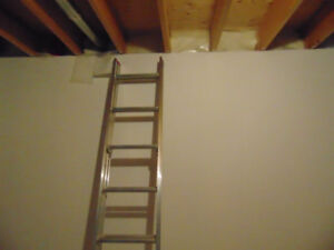 Sturdy metal Werner lightduty/household metal ladder.  (16ft.)