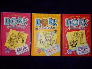 "3 ""Dork Diaries"" -hard cover"