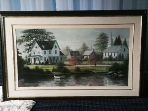 """Bill Saunders """"River's Edge"""" Signed Picture"""