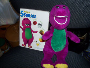Vintage, My lst BARNEY...plush stuffie and BARNEY Book