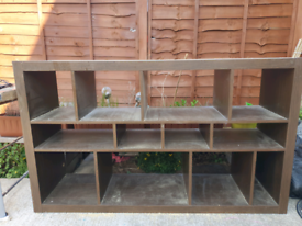 Large Shelve Made from Dark Wood
