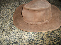 Men's Leather Outback Hat