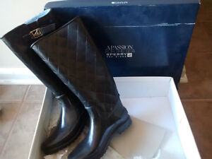 Sperry Top Spider Black Water Proof Boots Peterborough Peterborough Area image 1