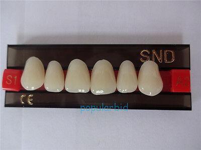 Vita A2 Upper Anterior S1 Dental Acrylic Teeth Synthetic Resin False Denture Hot