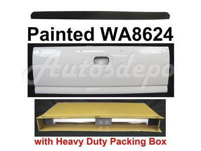 (PAINTED WA8624 WHITE TAILGATE + MOLDING TRIM For Silverado Fleetside 1999-2006)