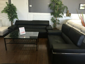 Genuine Leather modern sectionals/recliners and ottoman London Ontario image 3