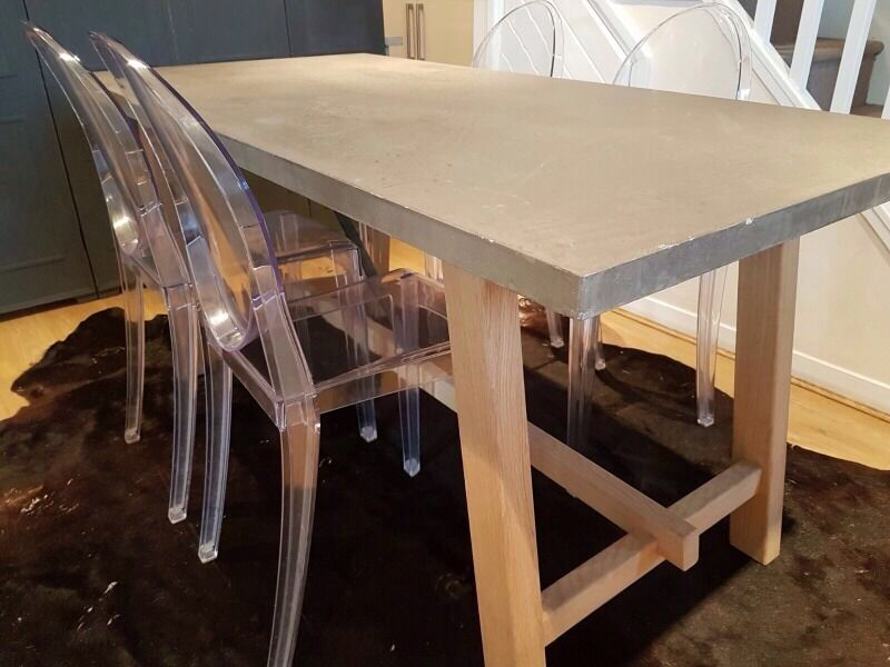 Stunning Hudson living Polished Cement Concrete Stone Top Dining