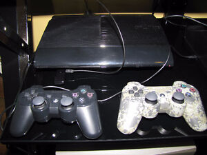PS3 console and controllers