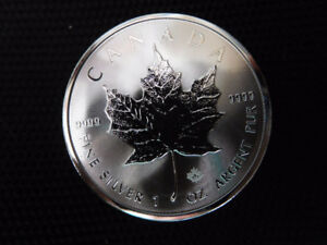 TUBES OF  1 OZ 9999 FINE SILVER MAPLE LEAFS