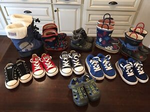 Toddler boy's sneakers, boots (Stonz, Bogs, Converse, Puma)