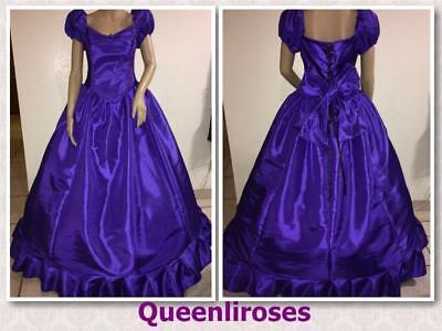 Southern Belle Civil War Nutcracker Old West Ball Gown Dress Purple, 34