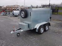 NEW 7x4x4 TWIN WHEEL BOX TRAILER UNBRAKED LOTS OF EXTRAS - GREAT VALUE BOX VAN GALVANISED TRAILER