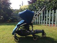 Bugaboo bee stroller with wheeled board