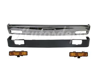 FOR 82-90 S10 PICKUP FRONT BUMPER CHROME PARK LAMP VALANCE W/O STRIP W/FOG HOLE