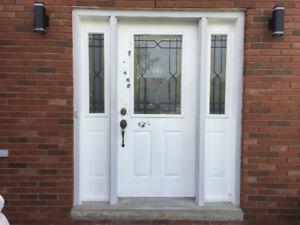 Front Steel Door with 2 Side lights
