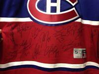 Jersey Canadiens de Montréal signé par tous les joueurs 2014-15