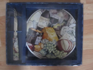Ceramic cheese plate and knife set Prince George British Columbia image 1