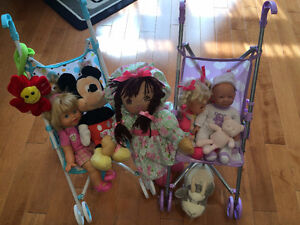 Dolls and Strollers set
