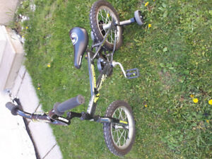 Boys 14 inch bike with training wheels for sale