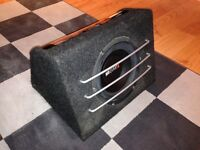 "MB Quart 10"" Subwoofer & FLI 800W Amplifier"