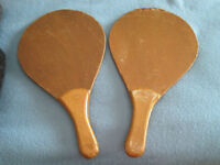 """1950's WOOD Ping Pong / Table Tennis RACKETS - 17"""" x 10"""" City of Montréal Greater Montréal Preview"""