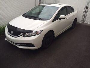 2014 Honda Civic ex l blanc toit ouvrant électrique