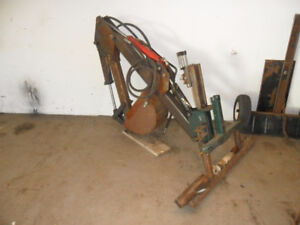 3 -point category one backhoe attachment ,needs work.