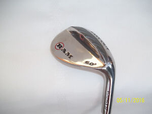 Men's RH Golf Wedge (Ram Easy Out) 60º with Steel Shaft