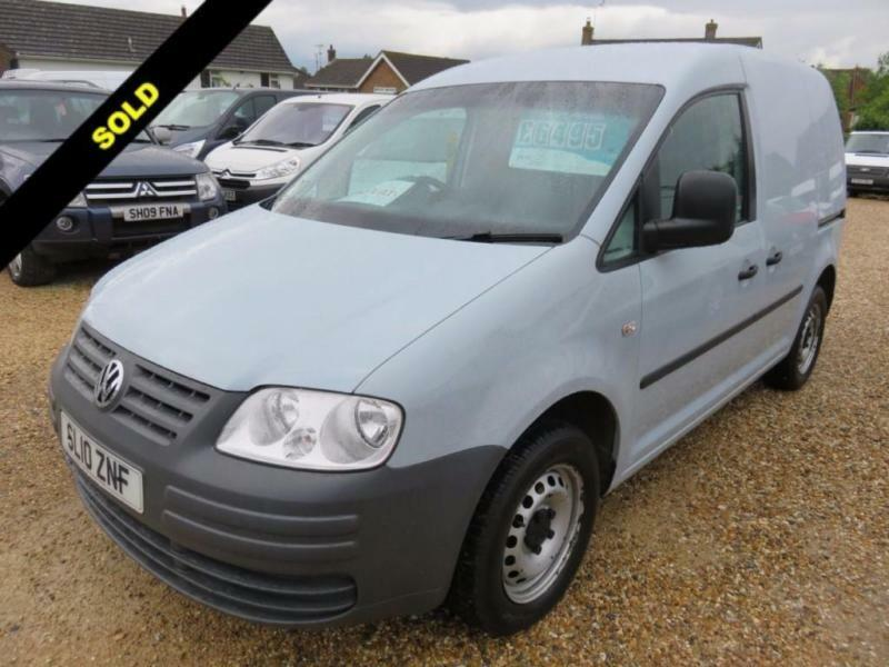 2010 10 VOLKSWAGEN CADDY 2.0 C20 TDI SWB 104 BHP TWIN SIDE LOADING DOORS 78917 M