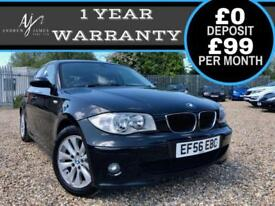 2006 BMW 120i SE 2.0 AUTOMATIC PETROL 5DR ☆ NEW MOT ☆ FSH ☆ LOW MILES ☆ AUTO!