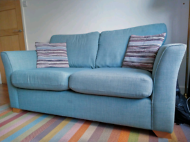Large 2 seater Sofa / couch light blue