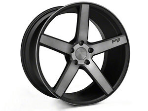 Niche milan machined black staggered 20x8.5/10 mustang rims
