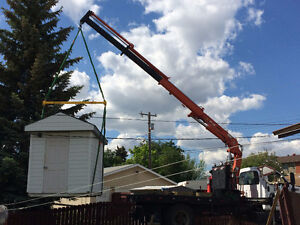 PICKER TRUCK FOR HIRE !!! SHINGLES, ROOF TRUST, BOULDERS ECT. Strathcona County Edmonton Area image 3