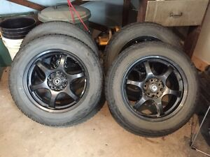 Blizzak 205/60/16 winter tires on rims