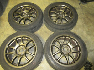 205-50-16 YOKOHAMA WORK 16X7JJ OFFSET 44 MAG WHEEL  5X100