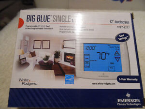 "Programmable Thermostat 1F97-1277 Big Blue 12"" Touch Screen New"