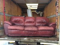 Used leather couch durable