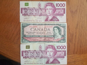 BANK OF CANADA PAPER MONEY FOR SALE