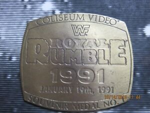 WWF ROYAL RUMBLE 1991 SOUVENIR Medal