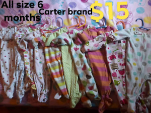 All Size 6 months baby girl sleepers