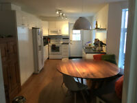 Large 4 1/2 with backyard and parking. Metro St. Henri & L.G.