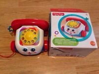 Fisher price chatter telephone and box