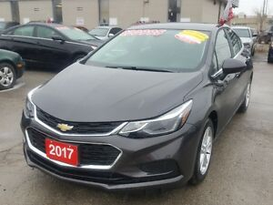 2017 Chevrolet Cruze LT Sedan, Factory Warranty, Low KMS