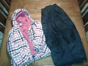 Size S fire fly winter jacket and size 8 snow pants