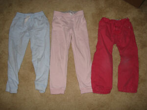3 Pairs girls pants Size 6X & 5