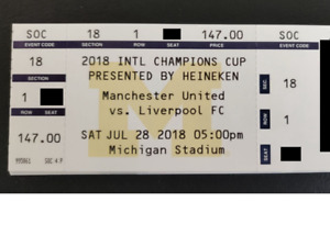 2 front row tickets - Liverpool vs. Manchester United
