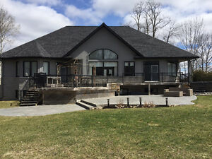 MAJESTIC CUSTOM HOME 1 ac. with Water views of Chemong Lake