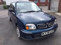 Nissan Micra 1.0 Petrol 3Dr 2000 New MOT Low Miles
