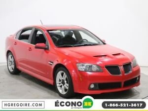 2009 Pontiac G8 4dr Sdn AUTO AC GR ELECT MAGS TOIT OUVRANT